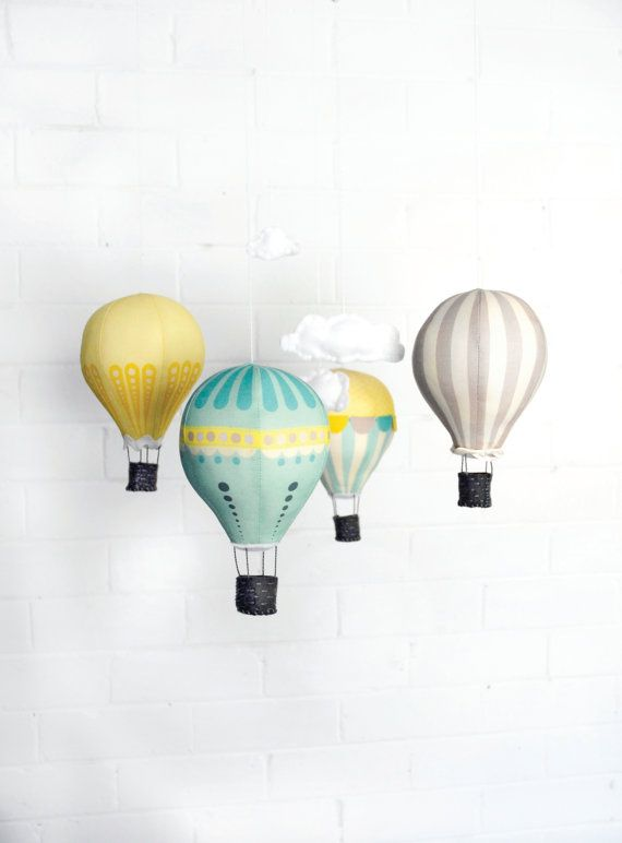 Hot Air Balloon Mobile Kit - Sunshine
