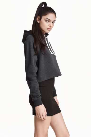14.99€ Cropped hooded top | H&M