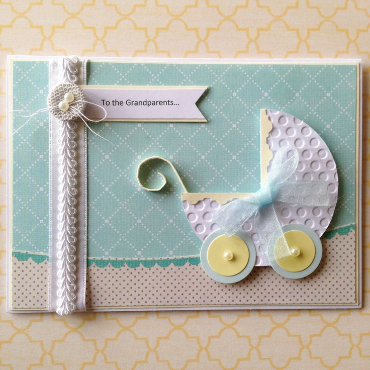 What a gorgeous card to give to new grandparents who have a new grandson!