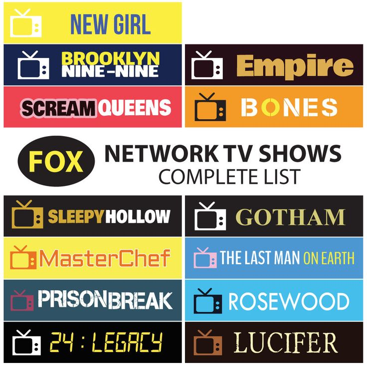 FOX Network TV Series Full Seasons  2016-2017 Schedule - TV Shows Sticker Planner by FasyShop on Etsy https://www.etsy.com/listing/255297508/fox-network-tv-series-full-seasons-2016