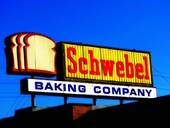 Schwebel Baking Co. (Schwebel's) Sign on Midlothian Boulevard. Youngstown, Ohio.