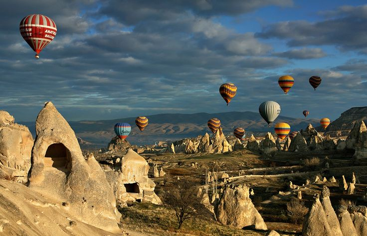 Cappadocia, Turkey Cappadocia is a historical region in Central Anatolia, best known for its unique moon-like landscape, underground cities and cave towns. All of which is best seen from the sky, with dozens of hot air balloons offering amazing bird eye views.