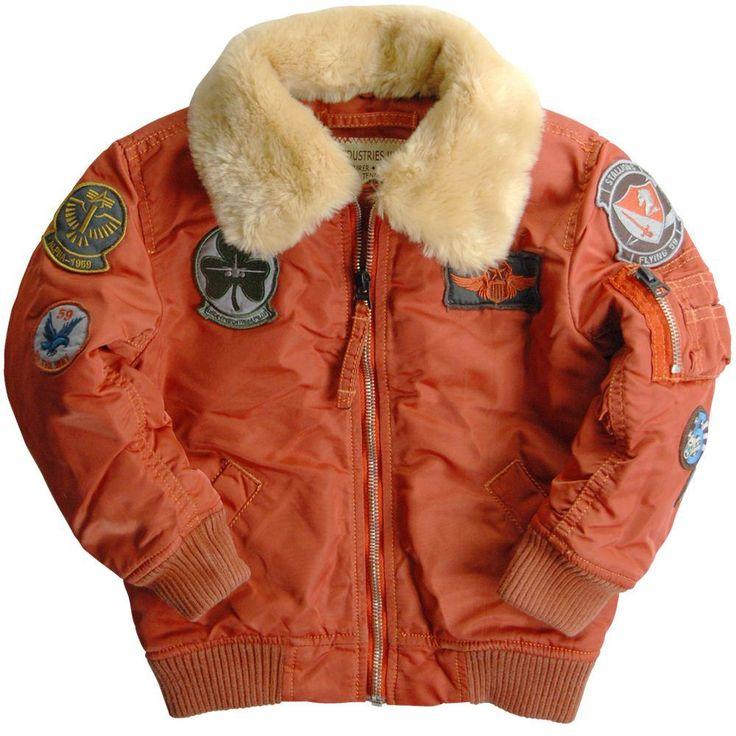 Alpha Industries Kids Maverick Flight Jacket Color Cocoa Rust Iron Boys   eBay