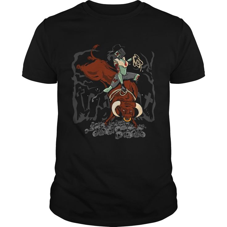 Zombie Bull Rider. Funny Zombie Quotes, Sayings T-Shirts, Hoodies, Tees, Clothing, Gifts. #zombie