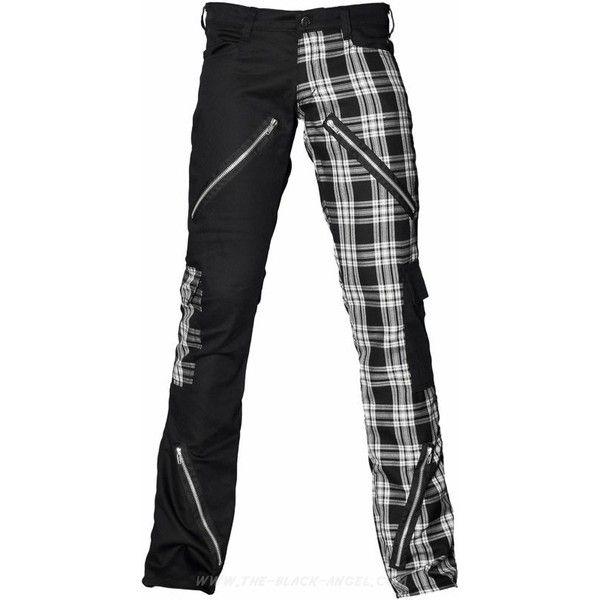 Gothic shop: Freak pants tartan by Black Pistol ❤ liked on Polyvore featuring pants, punk plaid pants, tartan pants, plaid pants, plaid trousers and goth pants