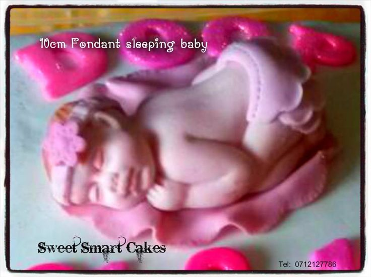 10cm Plastic Icing sleeping baby. For more info & orders, email SweetArtBfn@gmail.com or call 0712127786