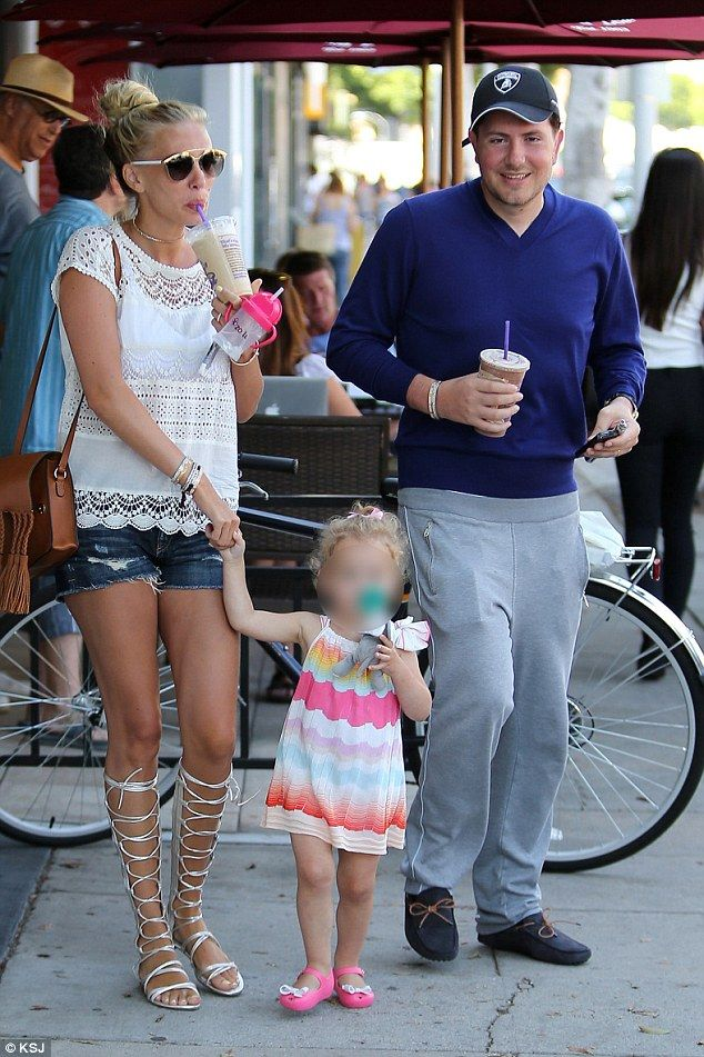 Happy families: James is married to Bernie Ecclestone's daughter Petra. They have three children