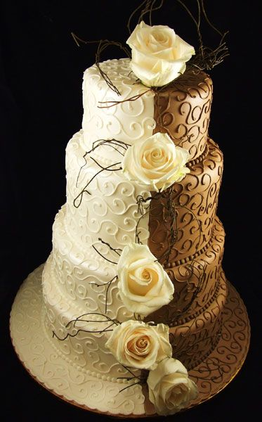 half chocolate and vanilla wedding cake 17 best ideas about brown wedding cakes on 15049