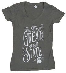 LOVE this :) It's Great at State MSU T-Shirt | #michiganstate #spartannation #madeineastlansing #sparty #padgram