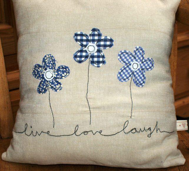 Cojines apliques bordados - el amor, el hogar es donde está el corazón, día de san valentín