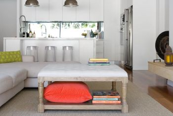 Collections By Kate - Tufted Ottoman Coffee Table