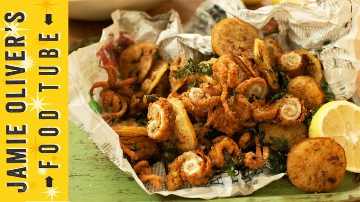 To kick off Food Tube's Christmas Calendar, Jamie's got the perfect party food recipe - Crispy Squid with Harissa Mayo. He'll show you how to prep your squid like a pro, and create a punchy dip to make your guests rejoice!