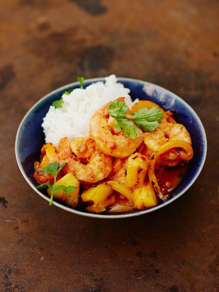 Szechuan sweet & sour prawns