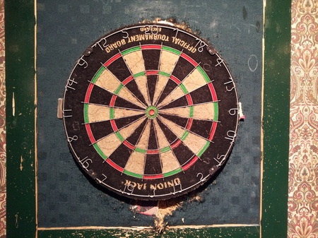 Union Jack dart board, Guelph