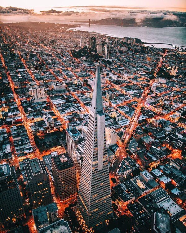San Francisco Feelings - Downtown from above. San Francisco, California by...
