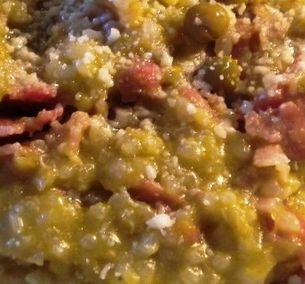 ⇒ Bimby, le nostre Ricette - Bimby, Risotto Cremoso con Piselli e Pancetta
