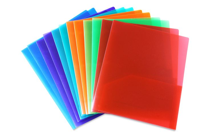 Embossed Plastic Folder Assorted Pack of 12  #WorkColorfully #Stemsfx