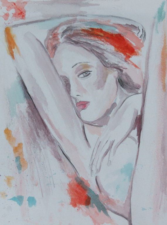 Clarie  Watercolour Painting by gilispencer on Etsy, $28.00