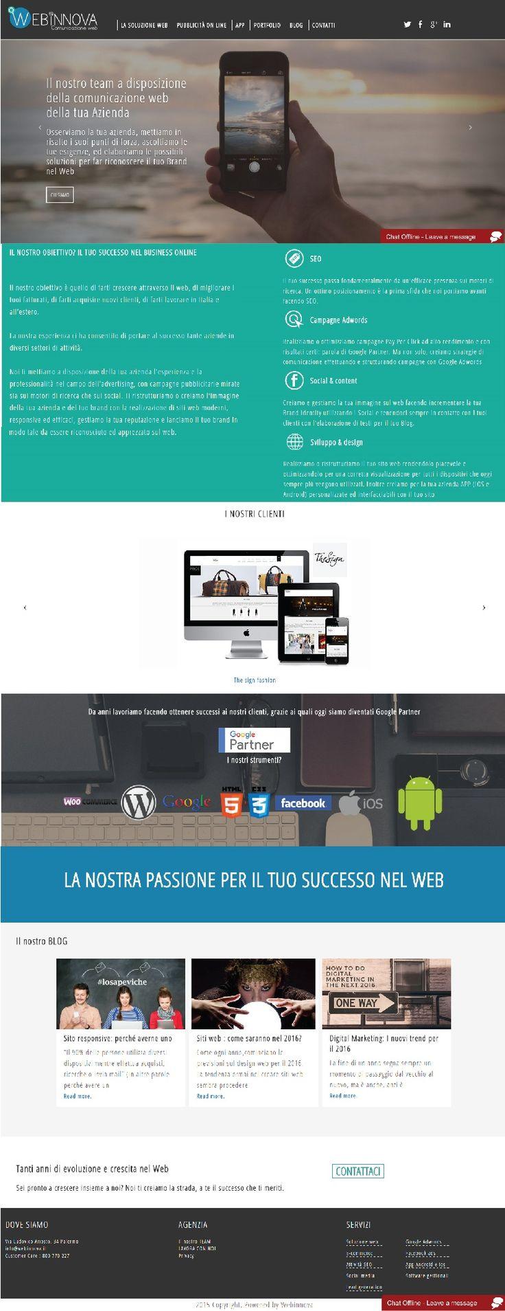 Sito #web realizzato con #Wordpress per Webinnova Solutions Ltd.