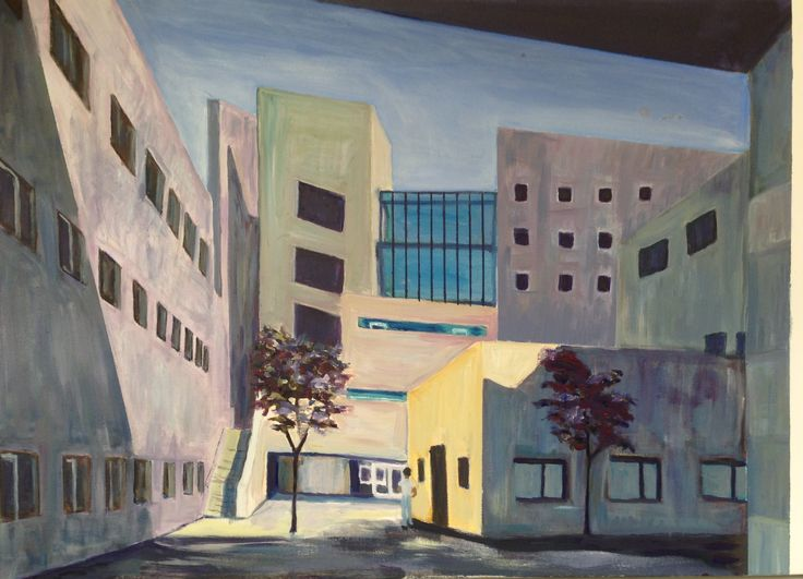 City Buildings 2 by Lyn Lowes Acrylic on canvas