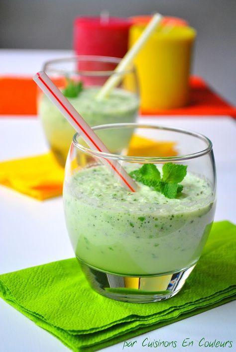 Gaspacho de concombre à la menthe : l'été est là! - Cuisinons En Couleurs