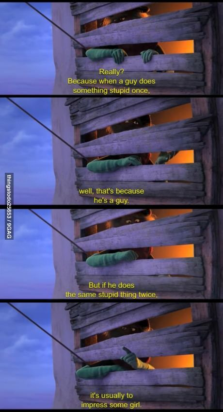 Guys and stupid things, explained by the Lorax! ahahah love this show :p