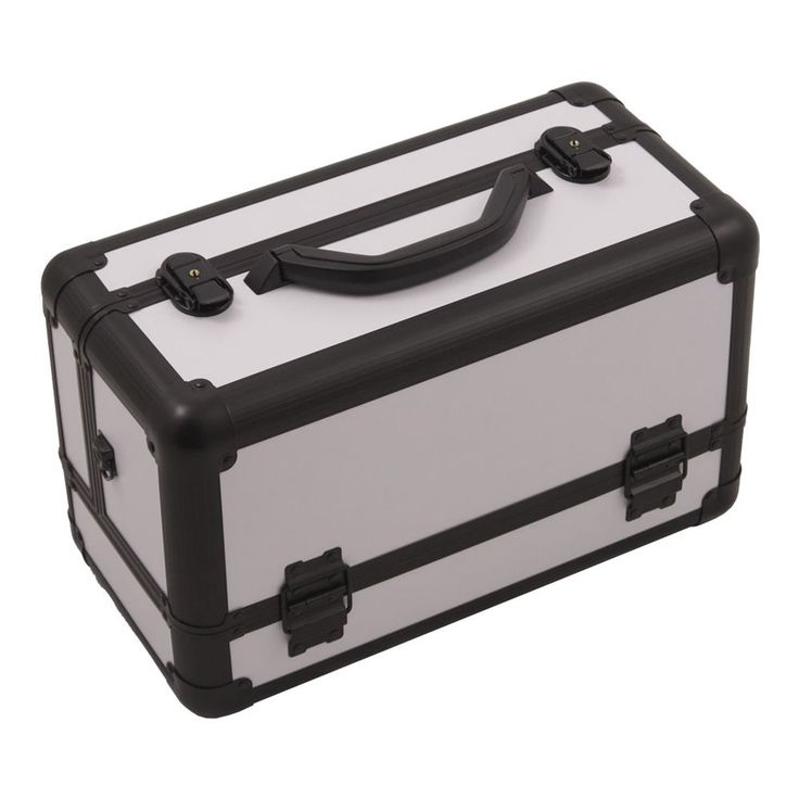 JUSTCASE 3-tiers Extendable Trays Professional Cosmetic Makeup Train Case