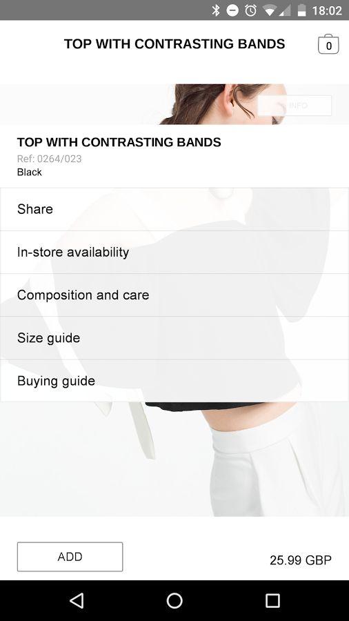 Zara- screenshot