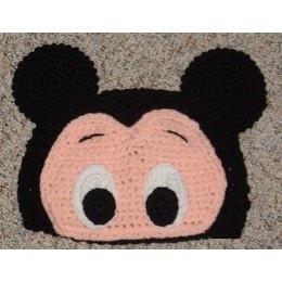 Disney Custom Crocheted Mickey Mouse Eyes and Ears Beanie Hat