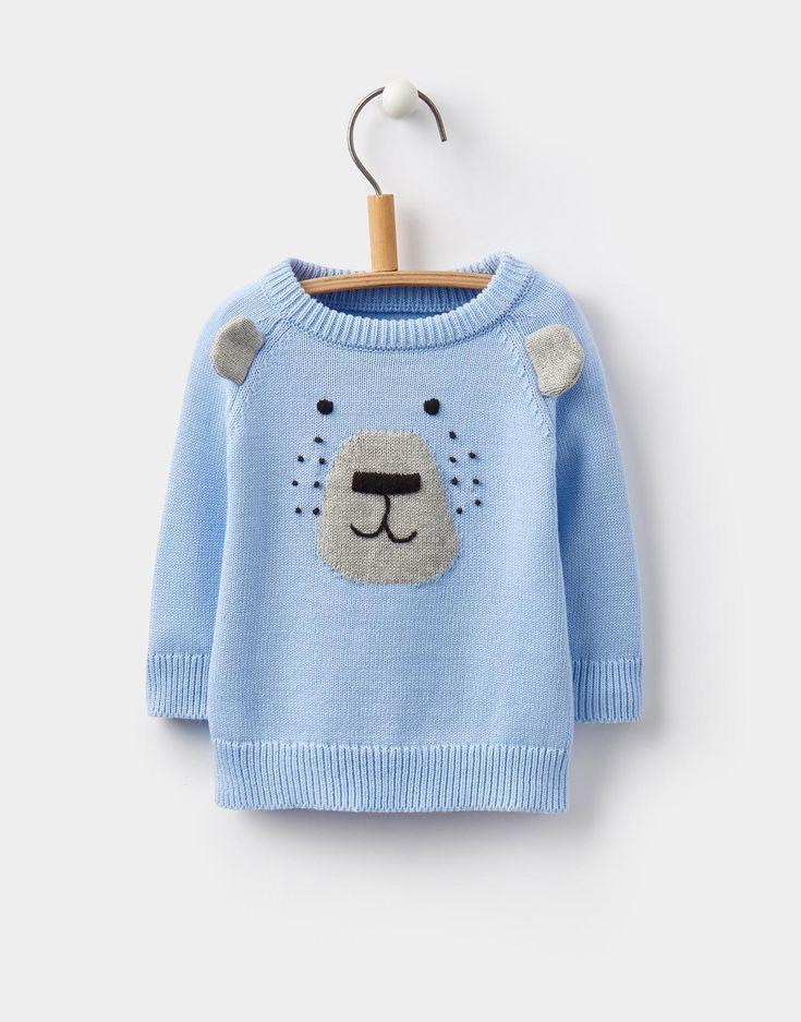 124460 Sky Blue Baby Boys Chrissie intarsia jumper | Joules UK