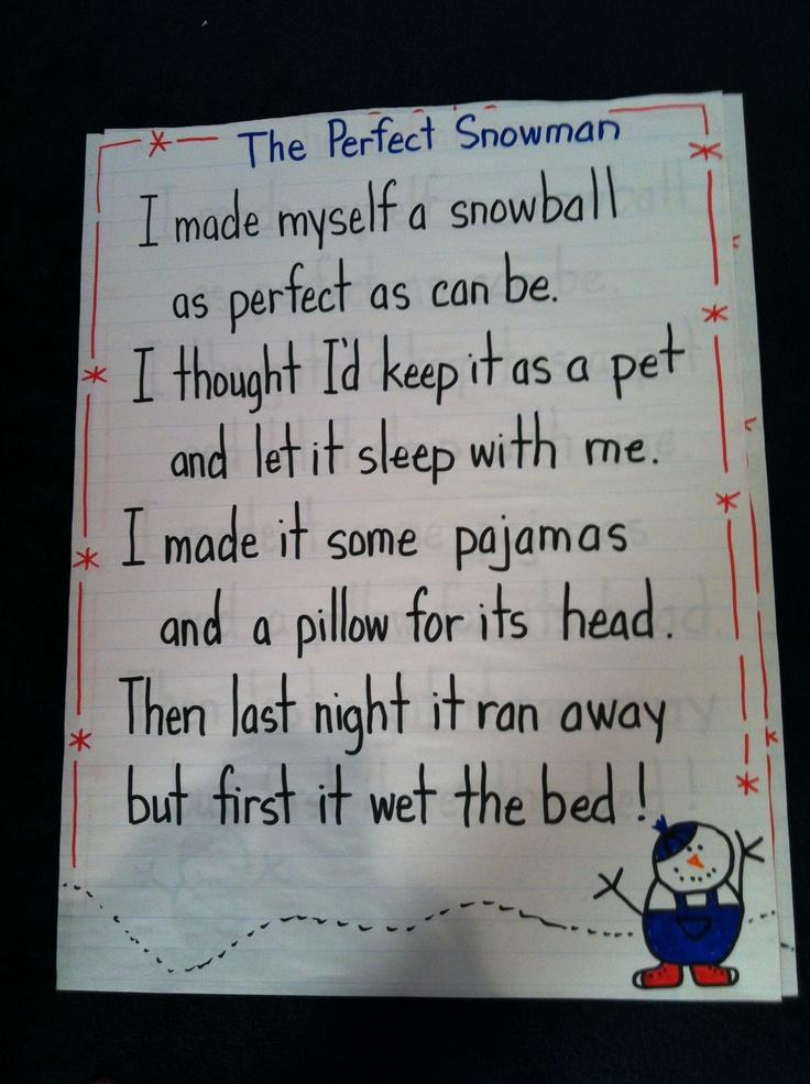 Calendar Poems For Kindergarten : The best january poem ideas on pinterest poems for