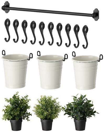 ikea 22 rail 10 hooks 3 cutlery caddy pot 3. Black Bedroom Furniture Sets. Home Design Ideas