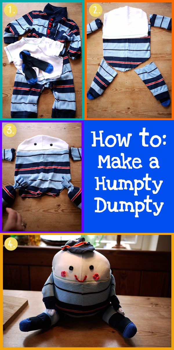How to make an adorable Humpty-Dumpty out of old baby-gros you can't bear to throw away!