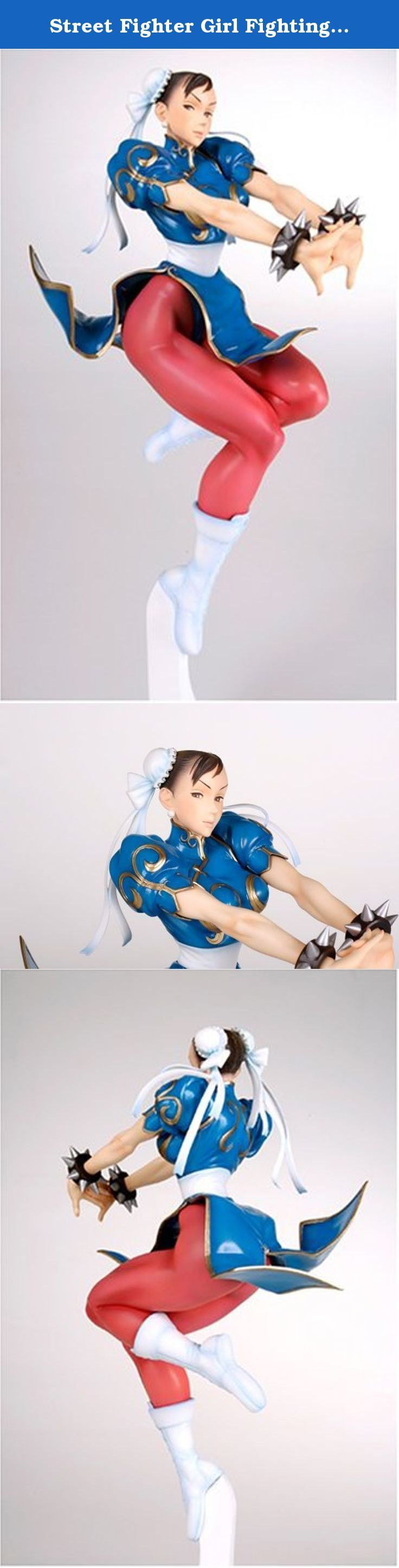 "Street Fighter Girl Fighting - Chun-Li 1/6 Scale PVC Figure (Max Factory). A character of Nishimura's representative illustration ""GIRL-FIGHTING"", 1/6 scale figure of ""Chunri"". From the powerful body that reproduced a powerful illustration, there is atmosphere that seems to be able to bring forth the killer killer and the Qigong fist. Prototype production is Takeshi Hamasaki. Dedicated pedestal included."
