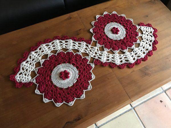 Häkeln Tischläufer Blume Artesanía De Cordero Pinterest