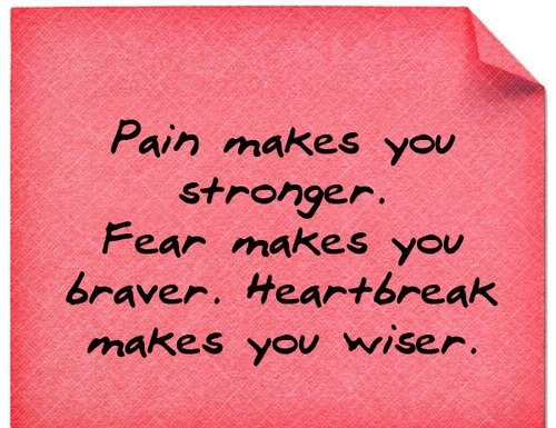 Love this.Life Quotes, Stronger, True, Pain, Favorite Quotes, Inspiration Quotes, Quotes About Life, Fear, Heartbreak