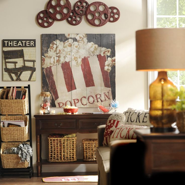 Incorporate Vintage Flair And Movie Themes Into Your Media Room With Unique  Pieces Of Wall Decor
