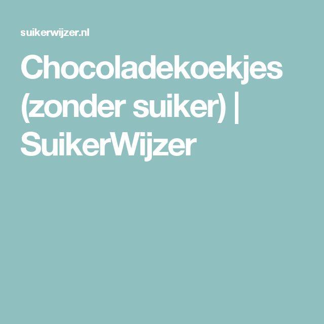 Chocoladekoekjes (zonder suiker) | SuikerWijzer