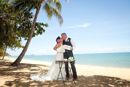 Just Married in beautiful Cairns.