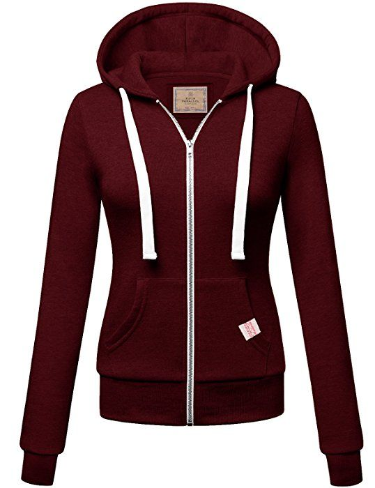 3e96ff1f62cd FPT Womens Basic Zip-Up Hoodie BURGUNDY MEDIUM at Amazon Women s ...