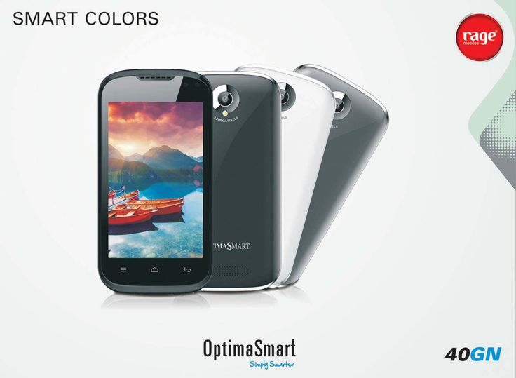 OPS 40GN comes with smart colors! Enjoy the vivid colors and make your life more colorful.  #OptimaSmart #SmartPhone #RageMobiles   Explore More: http://goo.gl/v06CdX