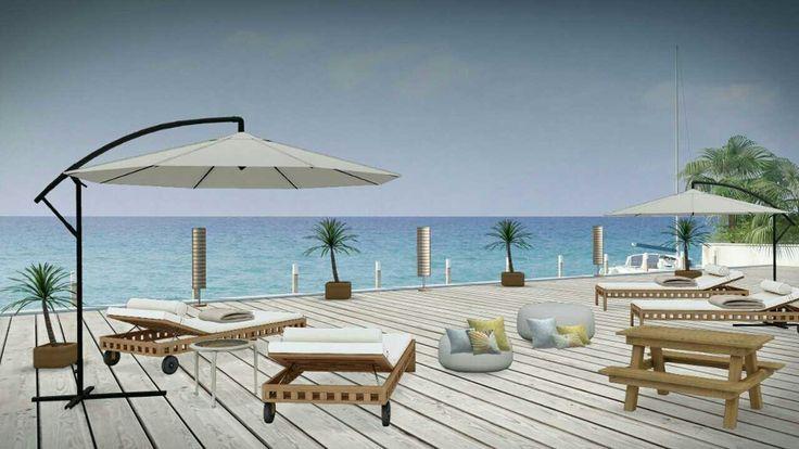 Hotel deck luxury concept