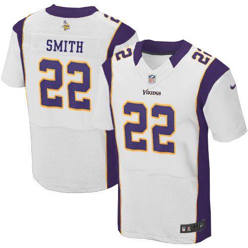 Men's Nike Minnesota Vikings #22 Harrison Smith Elite White NFL Jersey Sale