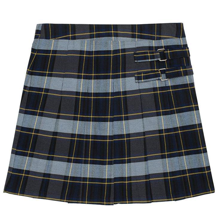 Girls 4-20 & Plus Size French Toast School Uniform Pleated Plaid Skort, Size: 12 Plus, Blue Other