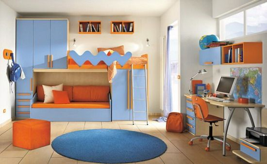 Blue and Orange Bedroom Ideas Inspiration - Best Interior Design Blogs