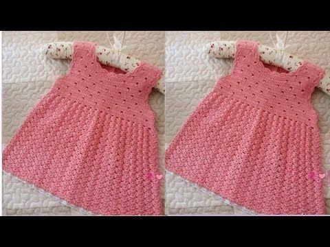 Tutorial Vestido Bebé Tricot | Dos Agujas - YouTube