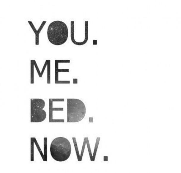 Leuke tekst boven het bed