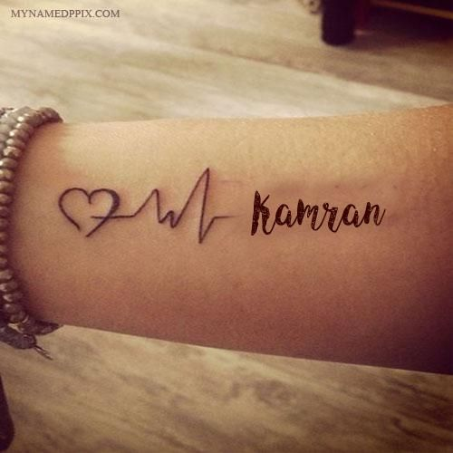 e1e570874 Write Name On Love Heartbeat Tattoo Image   Tattoos   Tattoos ...