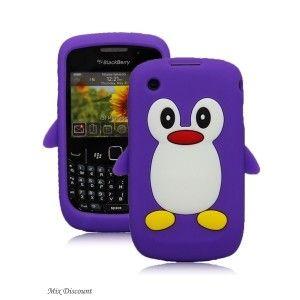 Coque en silicone Pingouin pour BlackBerry Curve 8520 / 9300