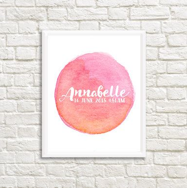 Hey, I found this really awesome Etsy listing at https://www.etsy.com/uk/listing/247677815/pink-watercolors-birth-print